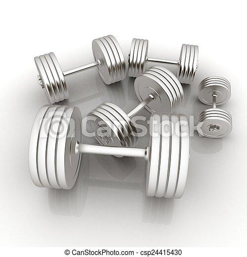 Fitness dumbbells - csp24415430