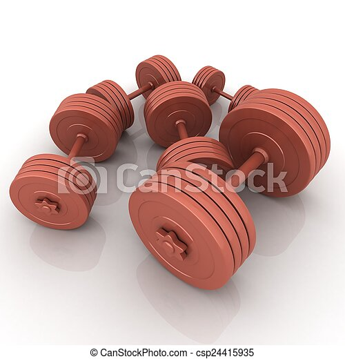 Fitness dumbbells - csp24415935