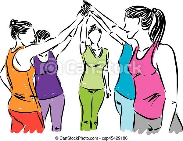 """Résultat de recherche d'images pour """"clipart femmes équipe"""""""