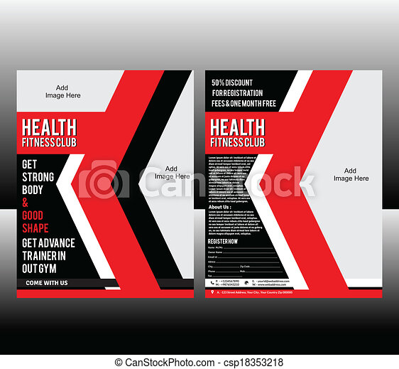 Fitness Flyer Template Vector Illustration Vector Clip Art  Search