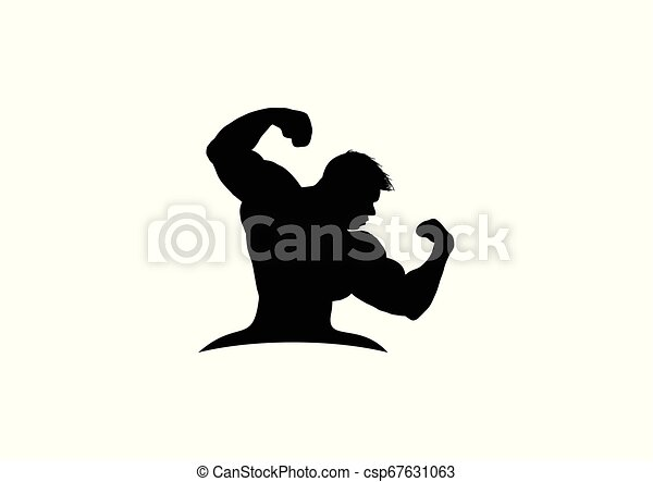 fitness guy silhouette - csp67631063
