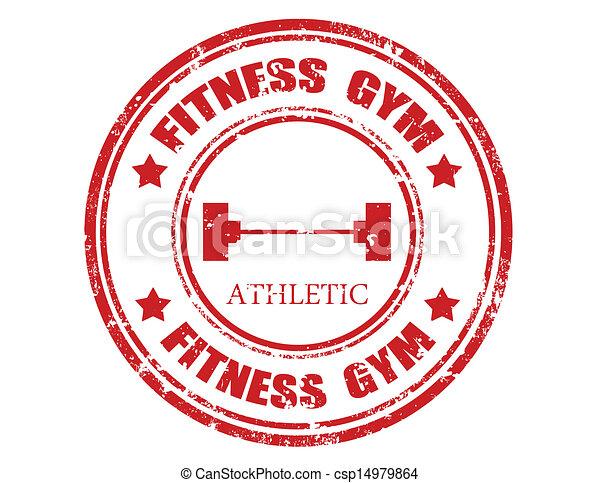 Fitness gym-stamp - csp14979864