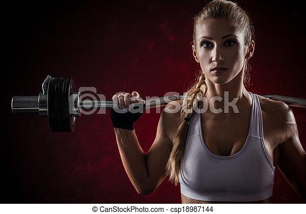 Fitness mit Glocke - csp18987144