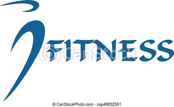 Fitness human vector logo design. - csp48832551