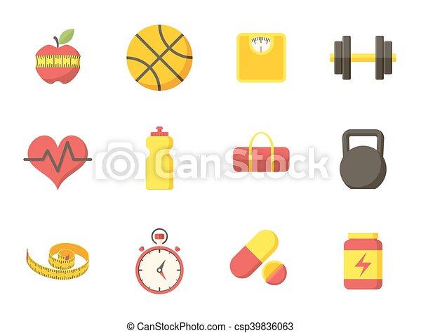 Fitness icons - csp39836063