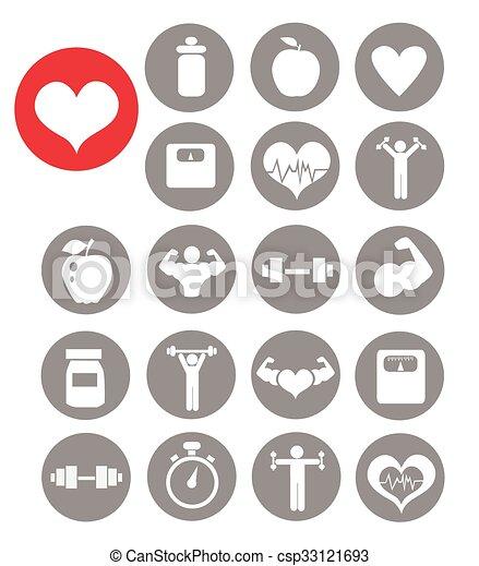 Fitness icons - csp33121693