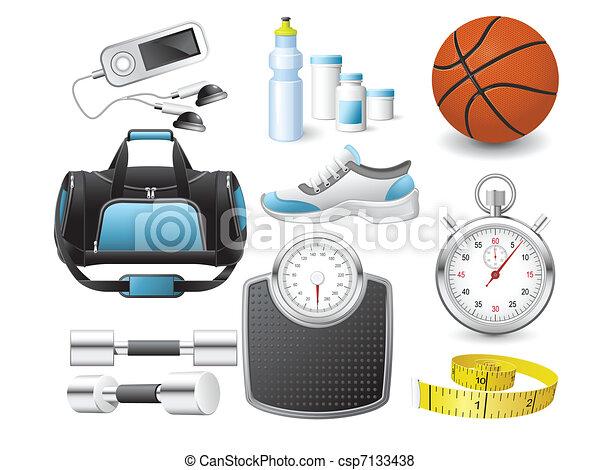Fitness icons - csp7133438