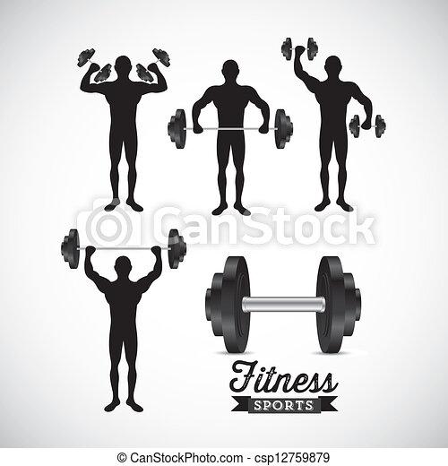 Fitness Icons - csp12759879