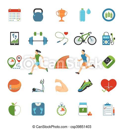 Fitness icons set - csp39851403