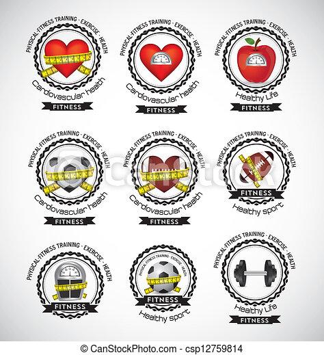 Fitness Icons - csp12759814