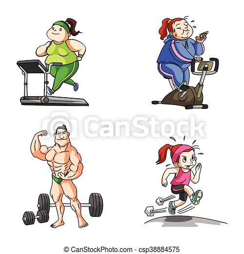 fitness illustration design - csp38884575