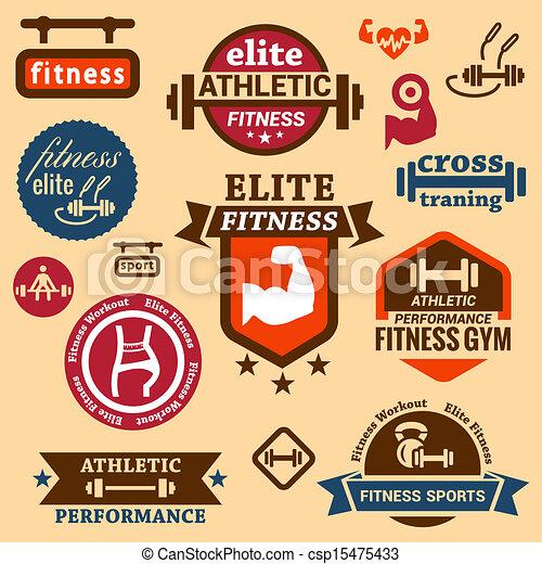 fitness labels - csp15475433