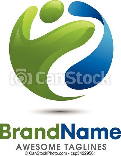 fitness logo - csp34229561