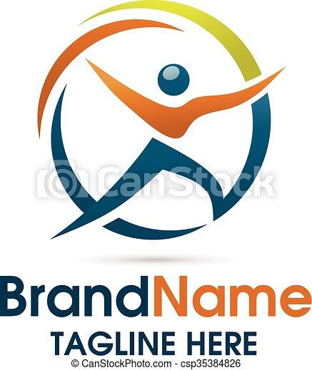 fitness logo vector - csp35384826