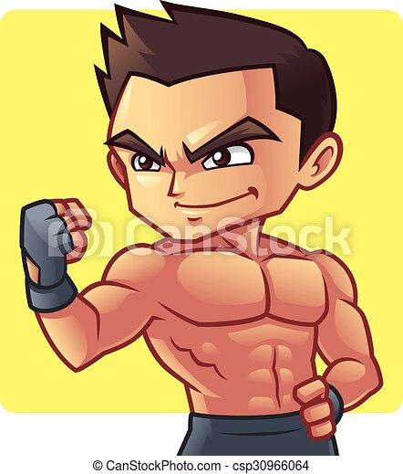 Fitness Man Great Body Shape Of Fitness Man Mascot Character