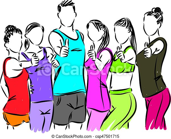 fitness people at gym vector illustration vector clip art search rh canstockphoto com gym clip art images gym clipart png