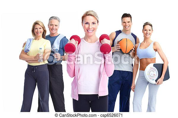Fitness people. - csp6526071