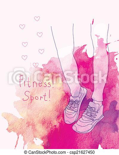 fitness sneakers. - csp21627450