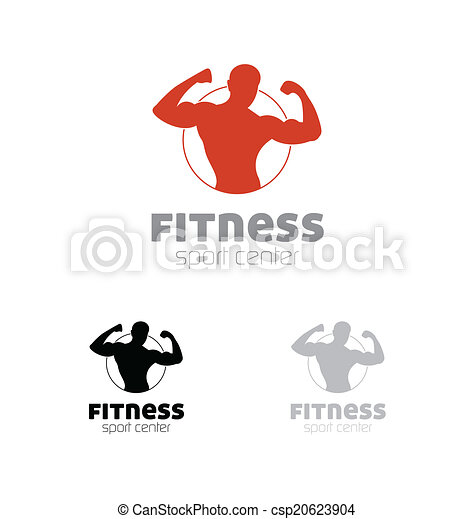 Fitness sport center logo - csp20623904