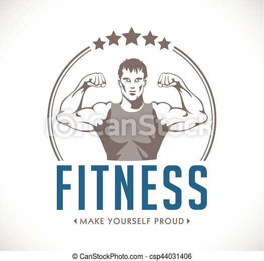 Fitness - strong man - gym concept - healthy diet - csp44031406