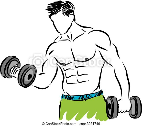 fitness strong man illustration rh canstockphoto com  strong black man clipart