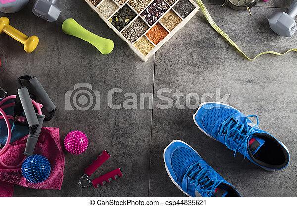 Fitness theme - csp44835621