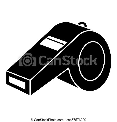 Fitness whistle icon, simple style - csp67576229