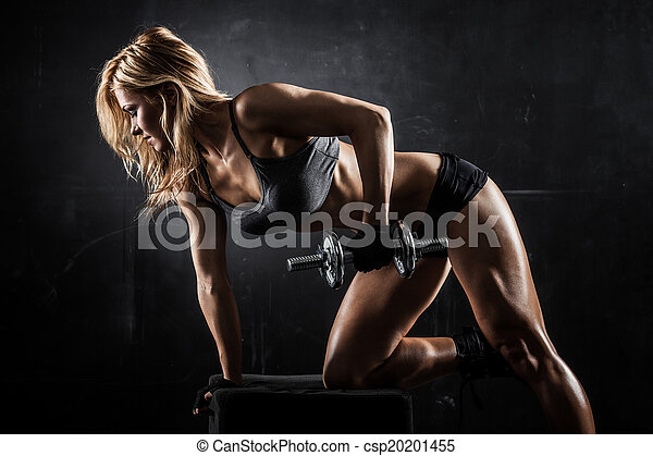 Fitness with dumbbells - csp20201455