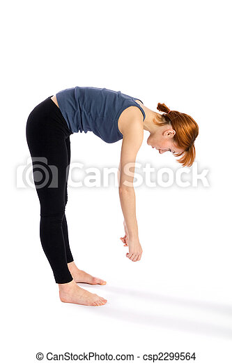 Fitness Woman Bend Exercise - csp2299564