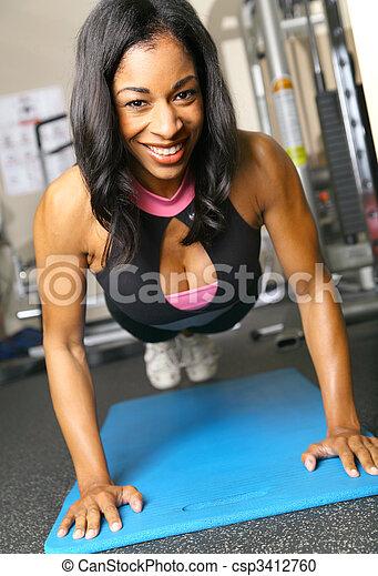 Fitness Woman Doing Push Up - csp3412760