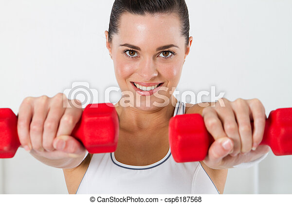 fitness woman exercising - csp6187568