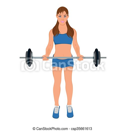 fitness woman exercising - csp35661613
