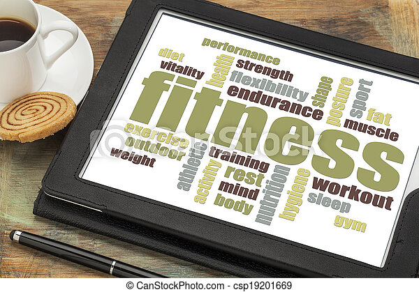 fitness word cloud - csp19201669