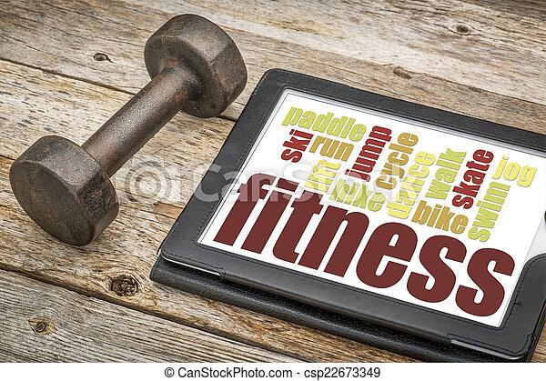 fitness word cloud - csp22673349