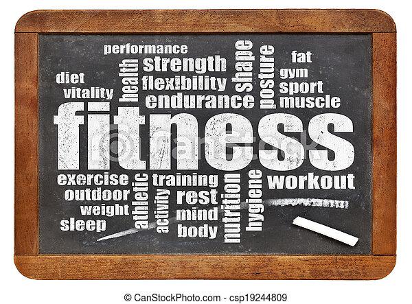 fitness word cloud - csp19244809