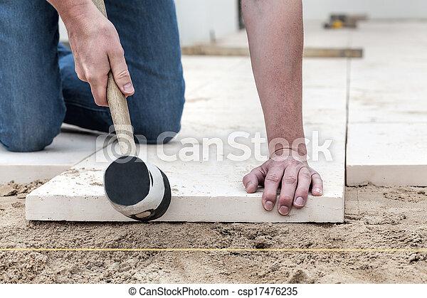 Fitting the concrete slab - csp17476235
