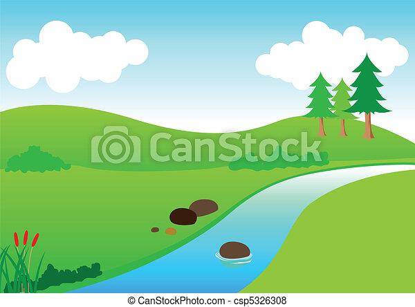 fiume, vista - csp5326308