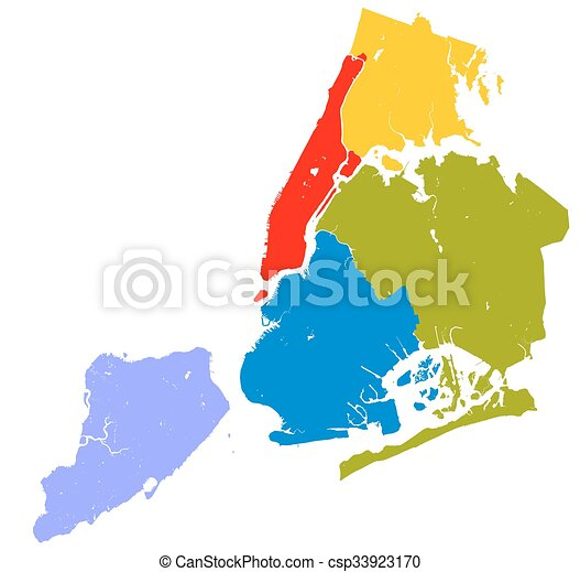 Map Of New York City And Boroughs