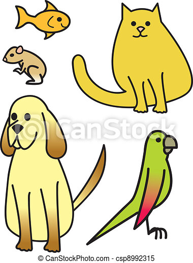 five cartoon pets five common house pets drawn in a schnauzer clipart forever miniature schnauzer clipart