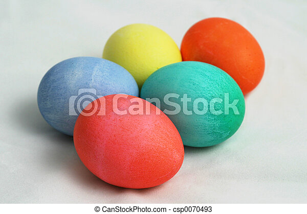 Five Colored Easter - csp0070493