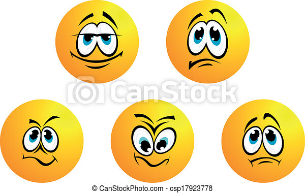 Five different smiles expressions - csp17923778