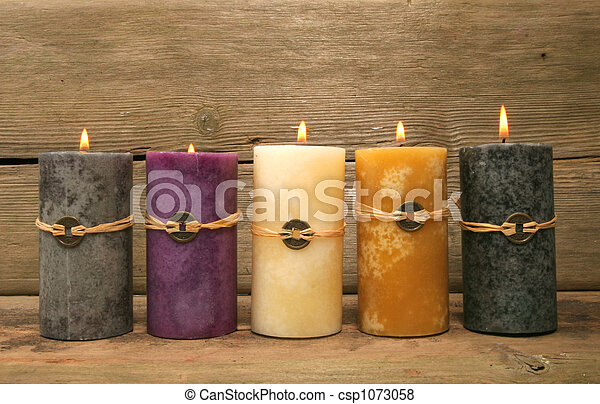Five feng Shui candles - csp1073058