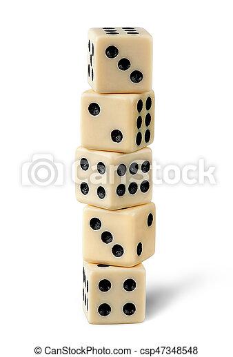 Five gaming dice - csp47348548