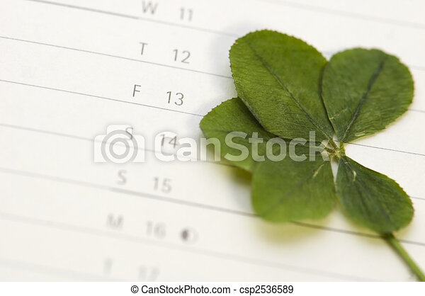 Five Leaf Clover And 13 Friday