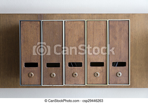 Five mailboxes - csp29446263