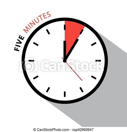 five minutes clock