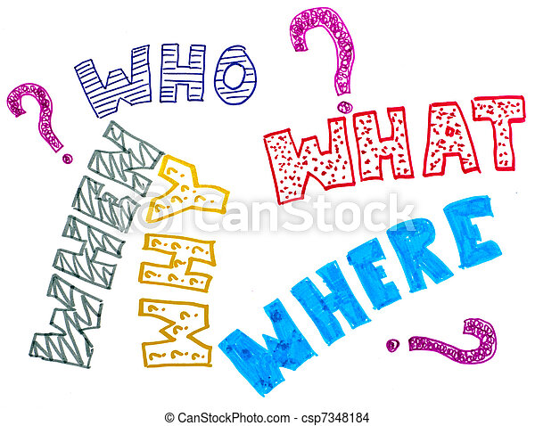 five questions who what when where why