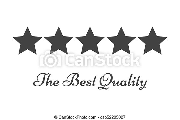 Five Stars Rating Symbol Of Quality Vector Illustration