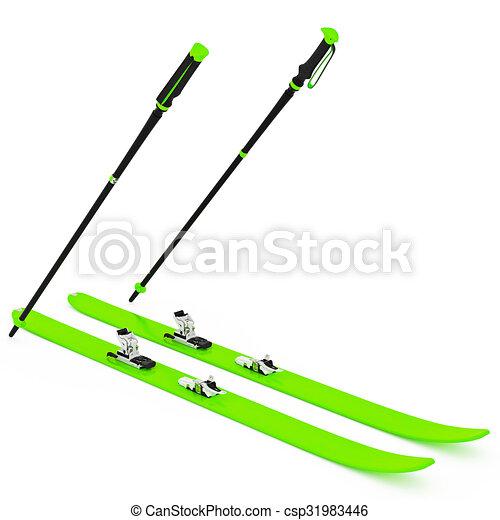 Fixation vert fait ski poteaux ski graphique fixation - Ski alpin dessin ...