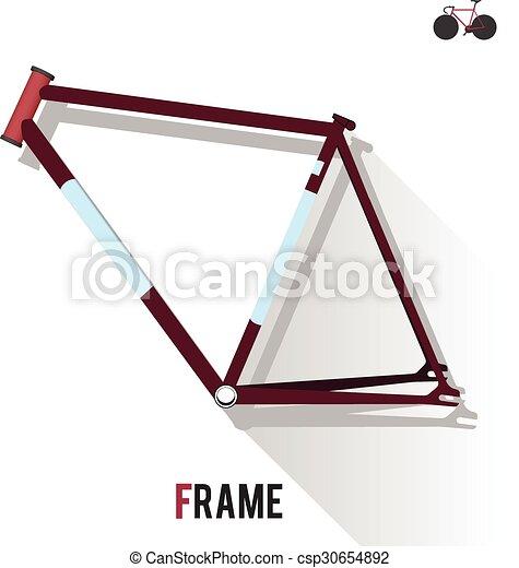 Fixed gear bike frame.